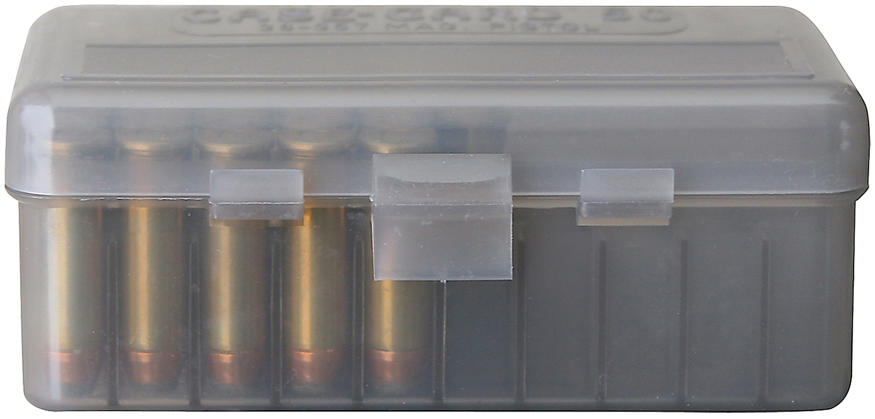 MTM 50941 Original Series Handgun Ammo Box 380/9mm 50rd Poly Clear Smoke