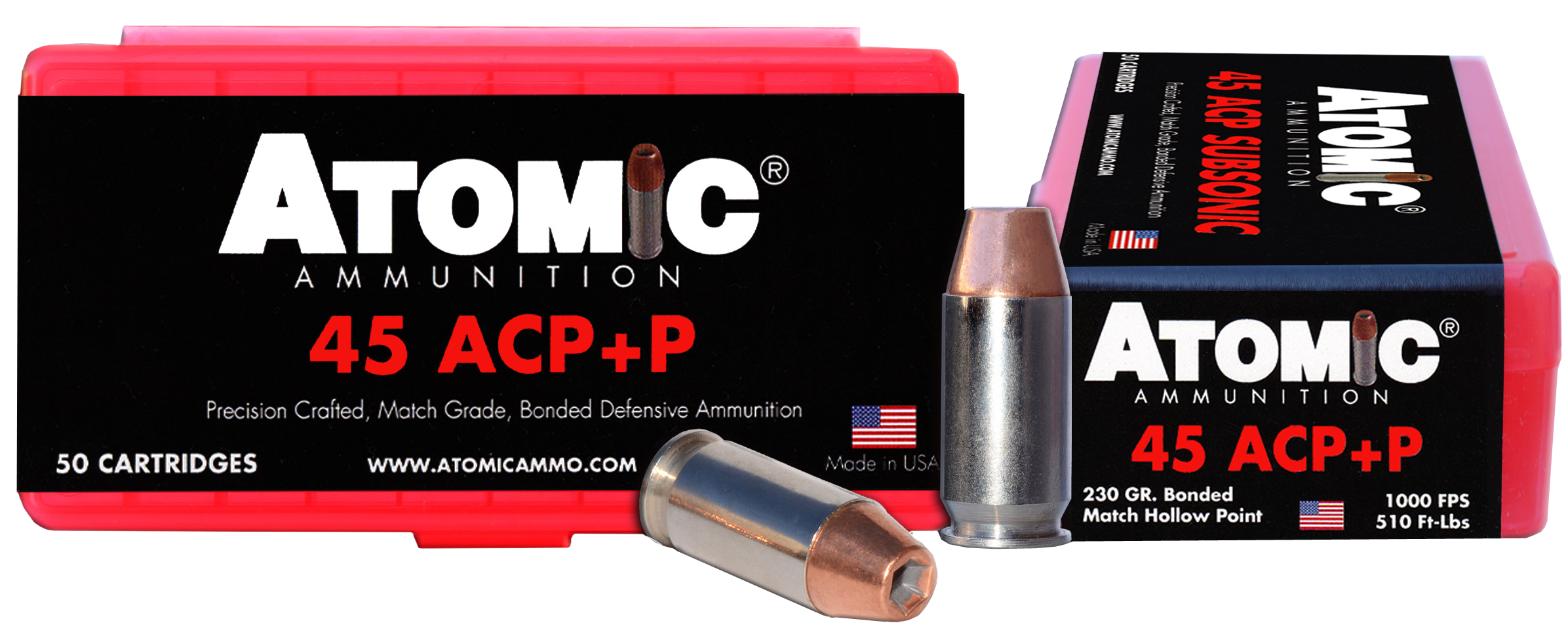 ATOMIC 00433 45ACP+P 230 BONDED MATCH HP     50/10