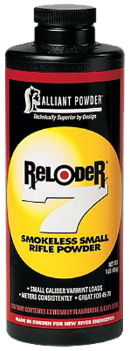 Alliant 150652 Reloder 7 Smokeless Small Rifle Powder 1lb 1 Canister