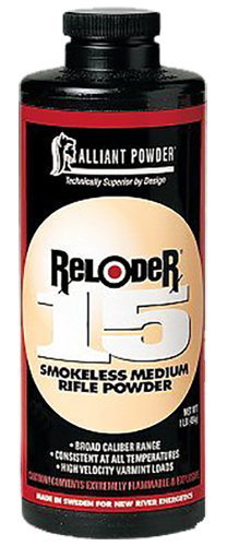 Alliant 150644 Reloder 15 Smokeless Medium Rifle Powder 1lb 1 Canister