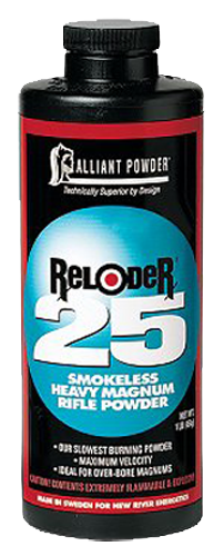 Alliant 150650 Reloder 25 Smokeless Heavy Magnum Rifle Powder 1lb 1 Canister