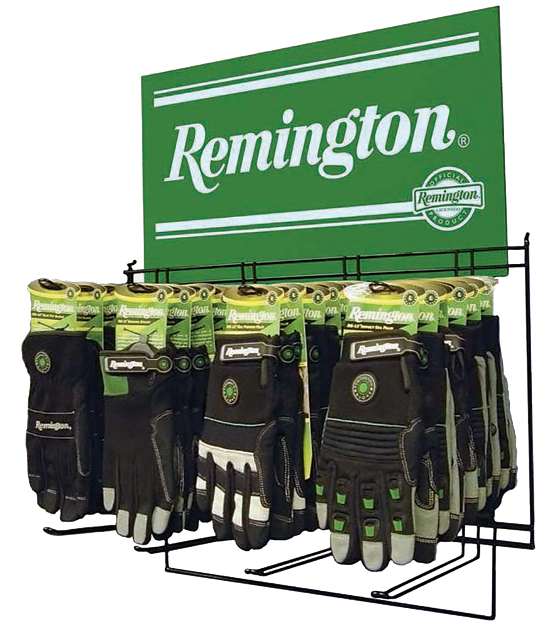 Radians DRG241 Remington Glove Display Table Top Rack w/24 Pair Gloves Assorted