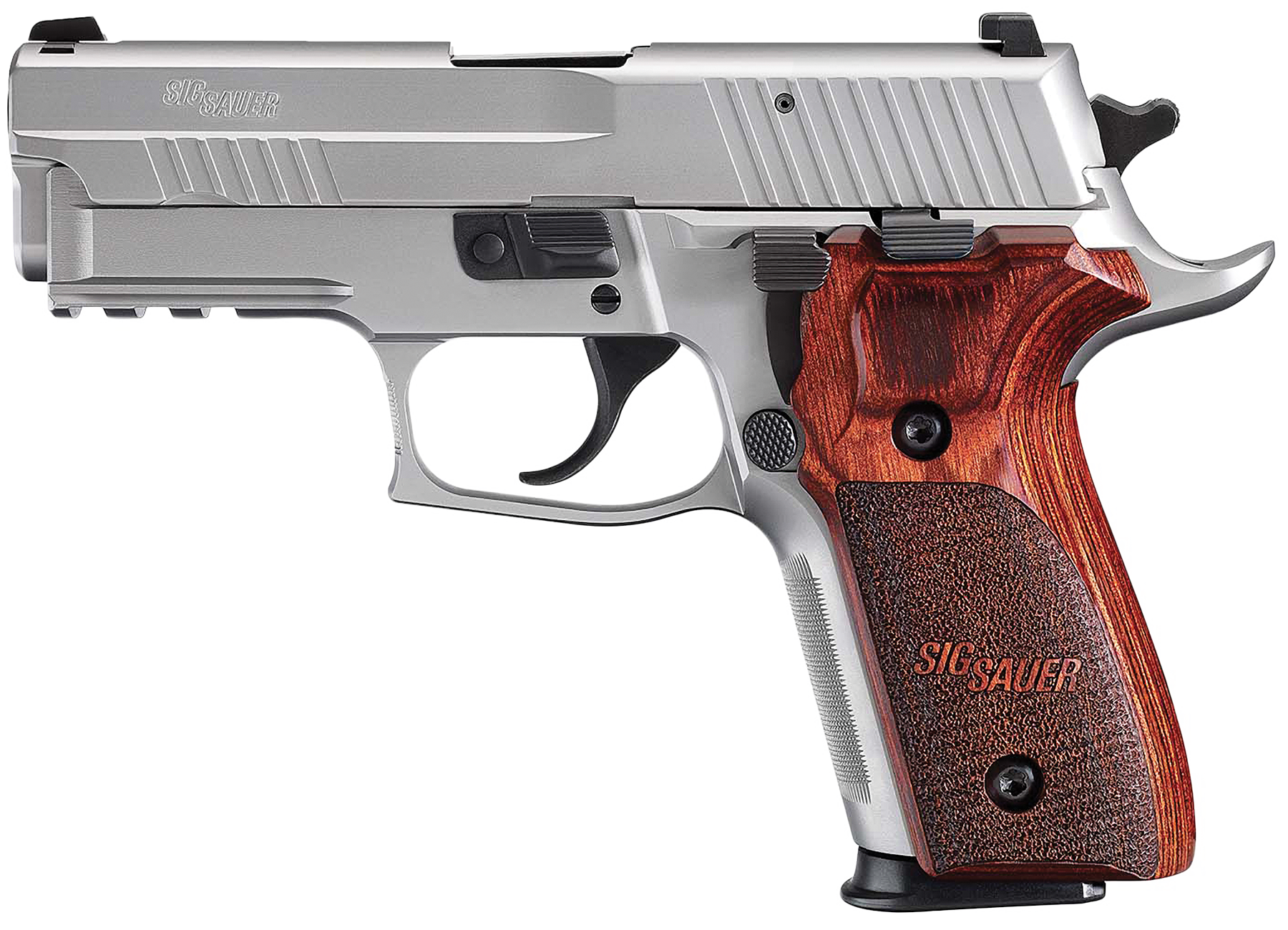 """Sig Sauer E29R9SSE P229 Elite Stainless 9mm 15+1 NS 3.9"""" Rosewood Grip"""