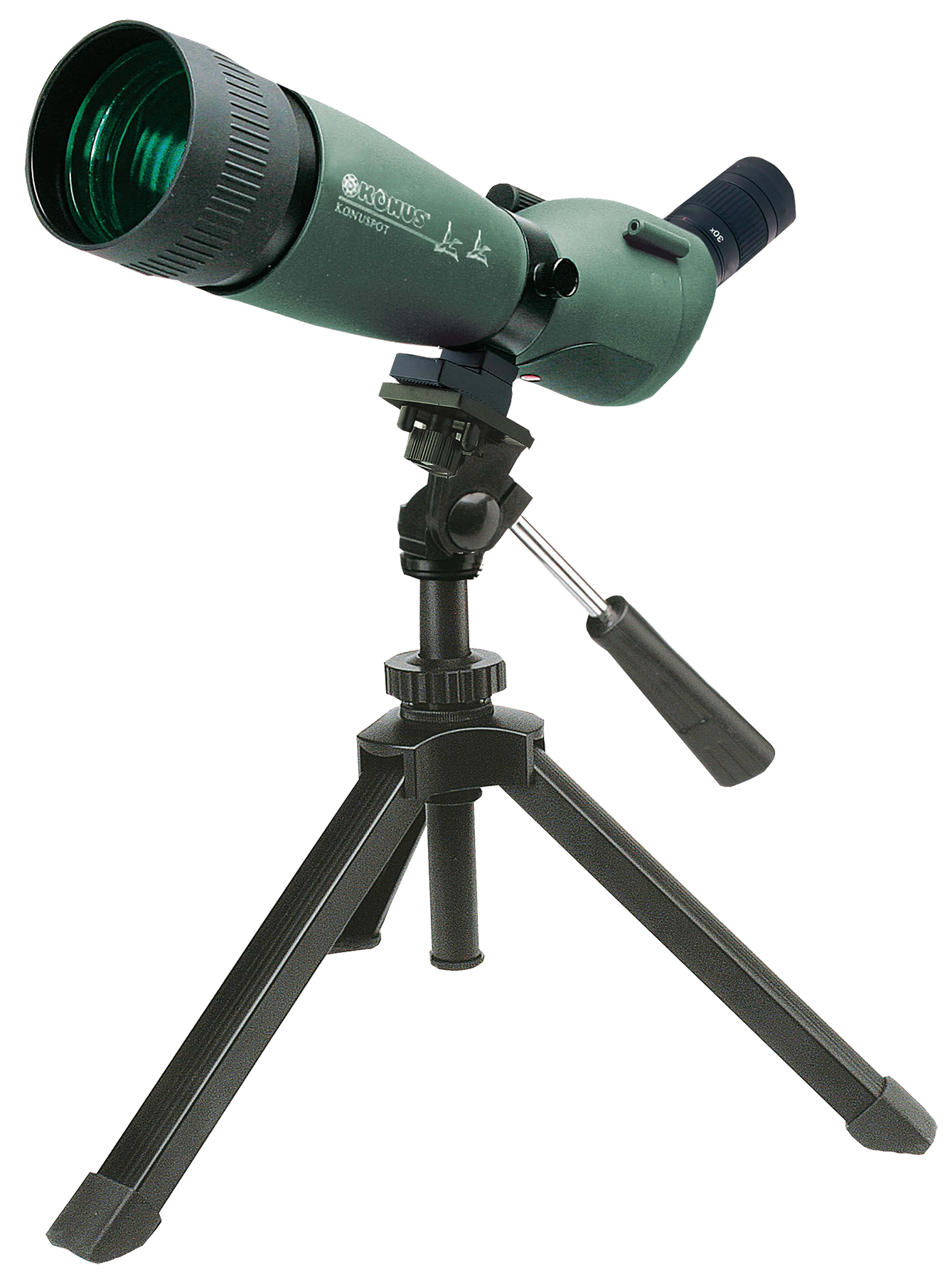 Konus 7120 KonuSpot 20-60x 80mm 79-41 ft @ 1000 yds FOV Angled Green w/Tripod, Photo Adapter, Case