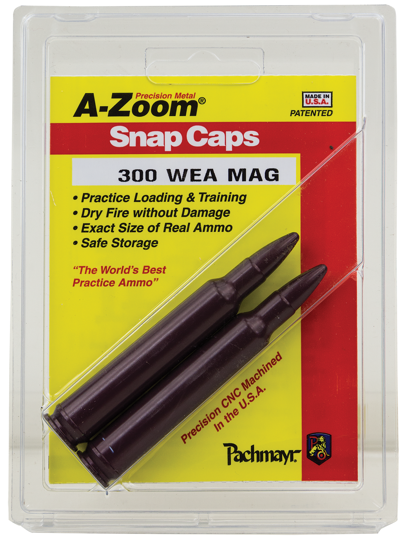 A-Zoom 12284 Snap Caps Rifle 300 Weatherby Magnum Aluminum 2