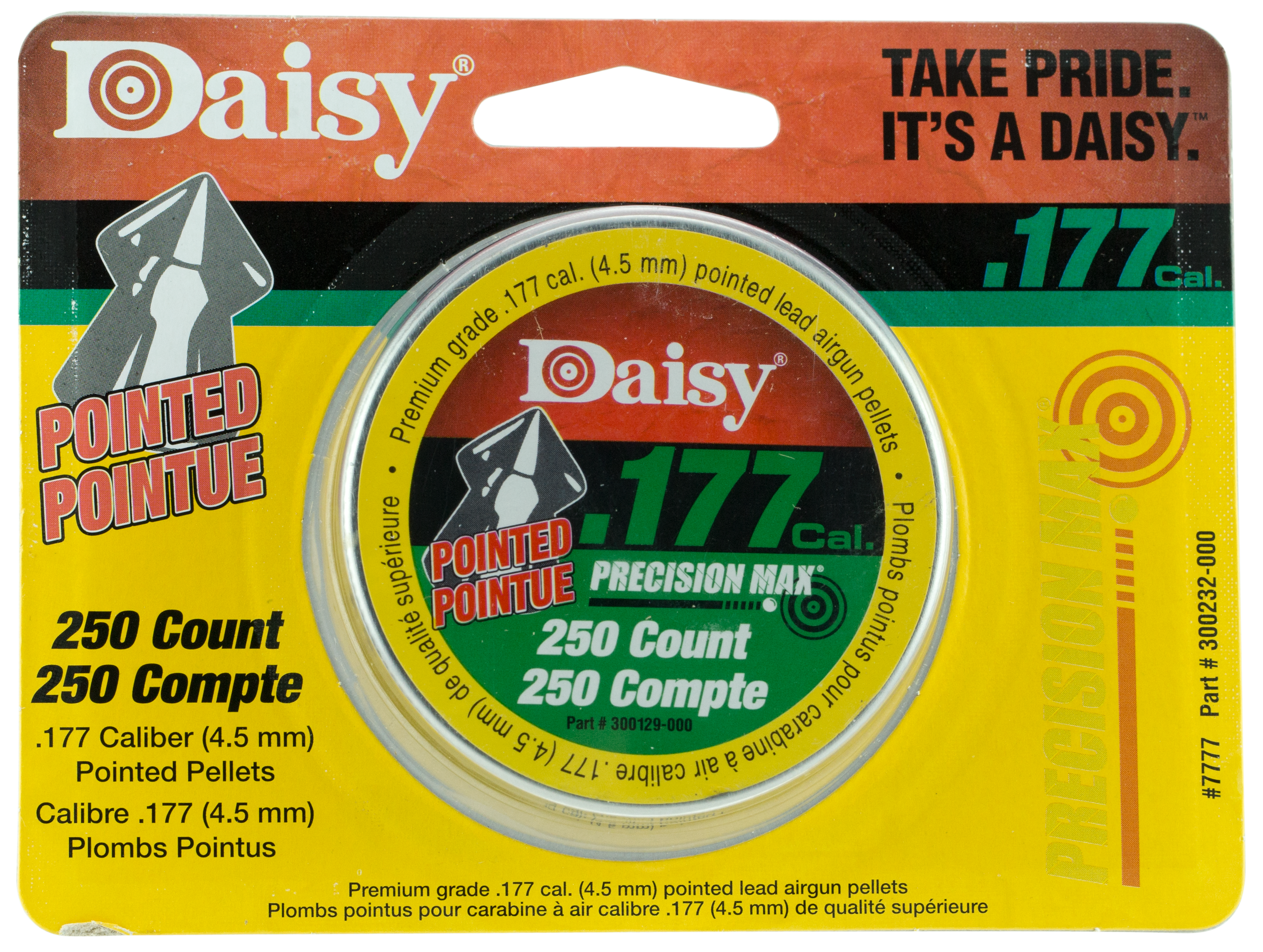 Daisy 7777 PrecisionMax Pointed Field Lead Pellets  .177