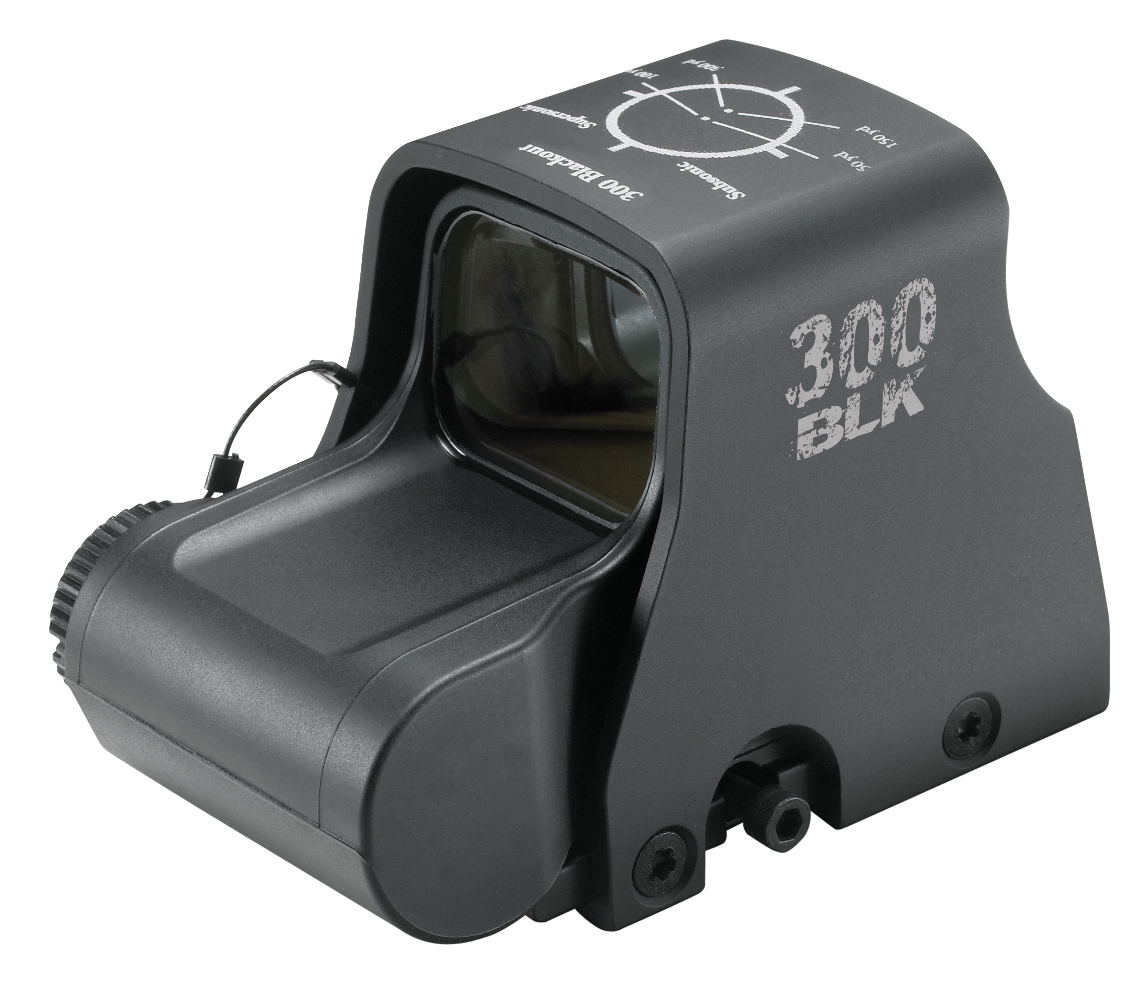 Eotech EXPS2300 300 Blackout 1x 30x23mm Obj Unlimited Eye Relief 2 MOA Black