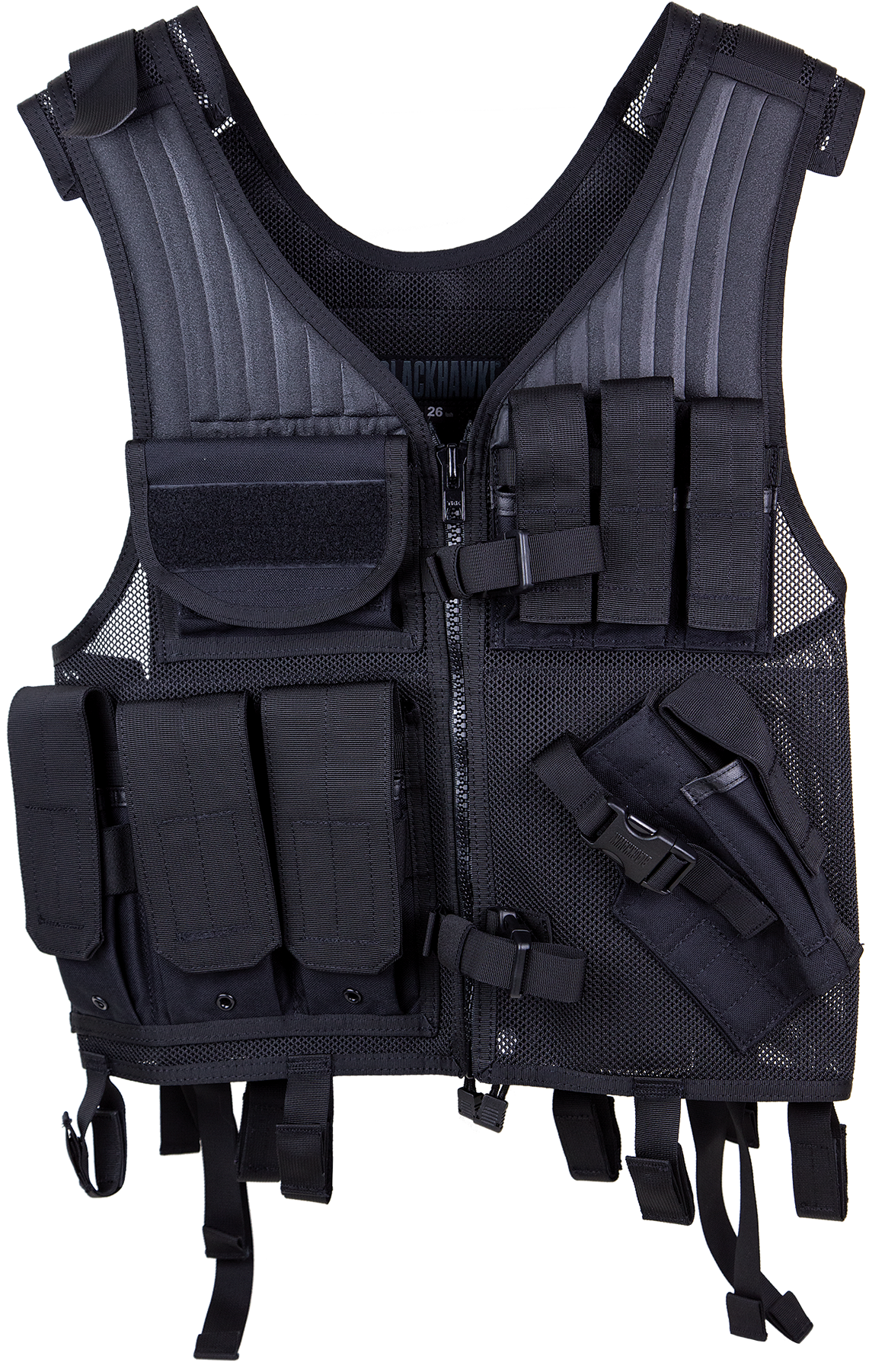 Blackhawk 30EV26BK Omega Elite Pistol Tactical Vest Nylon Mesh Adjustable Black