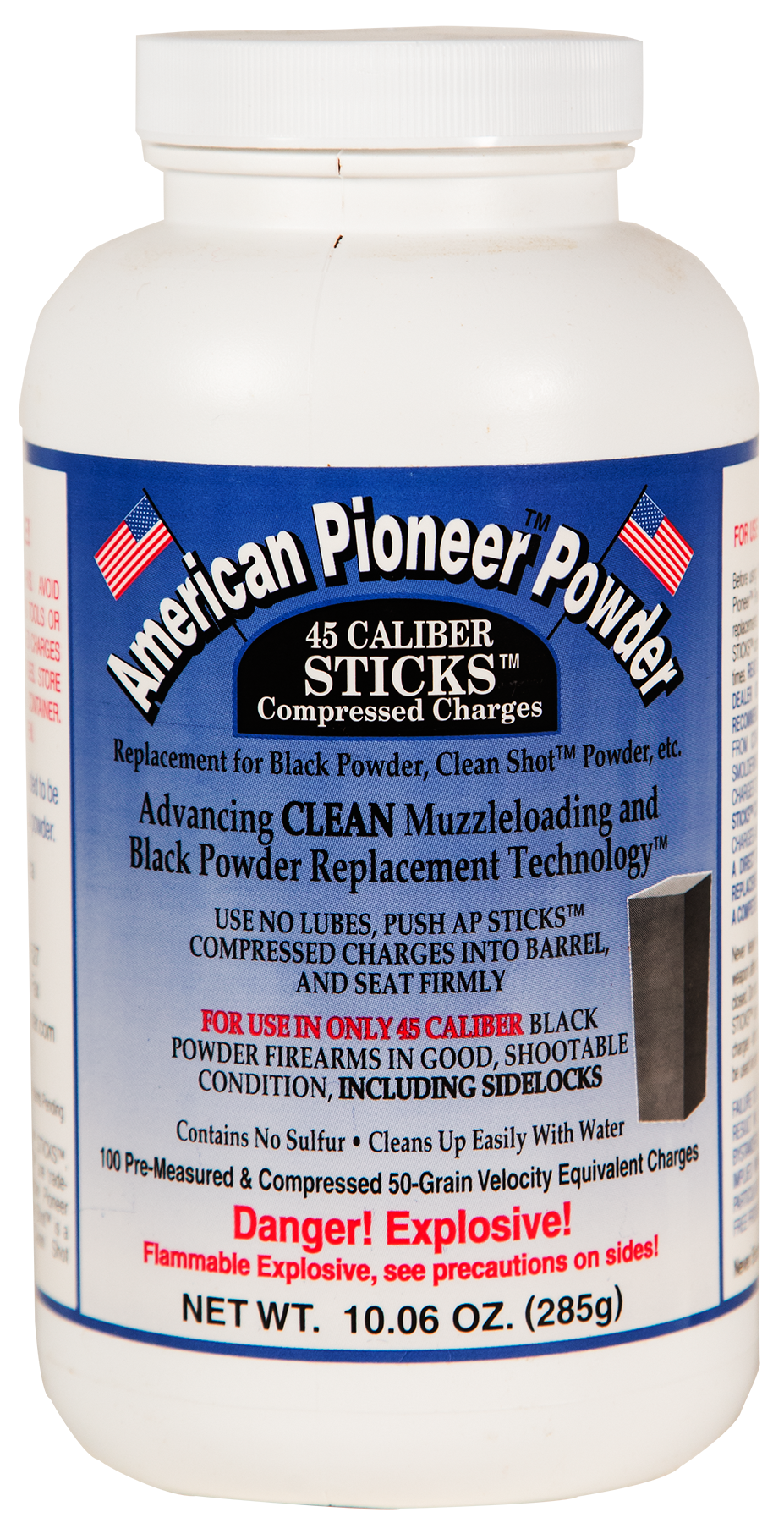American Pioneer APP4550 Powder Compressed Stick Charges 50 gr 1