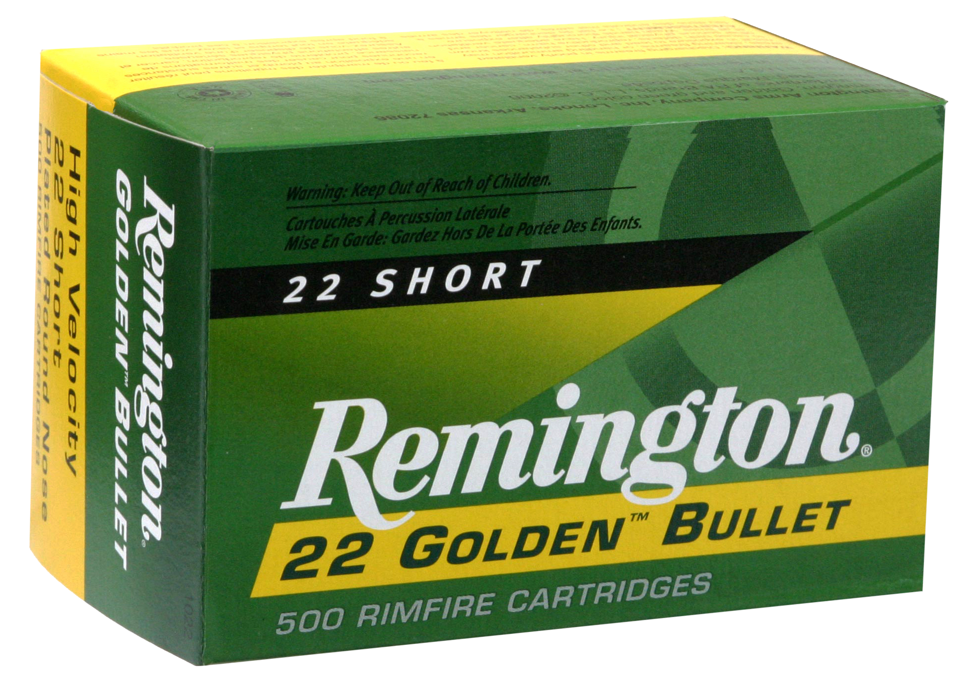 Rem Ammo 1000 22Short 29GR HV 100Bx/50Cs Plated Lead Round Nose