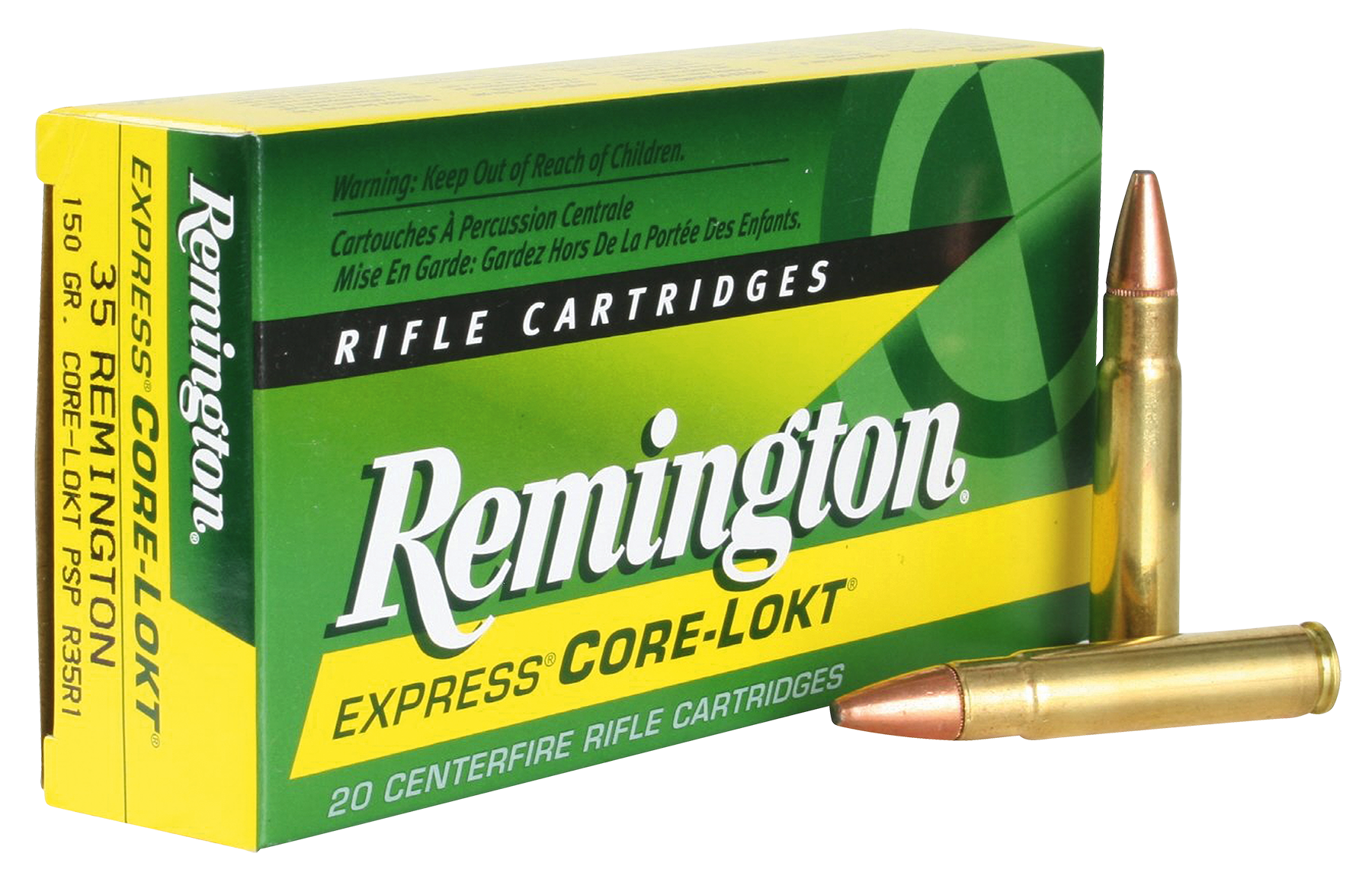 Rem Ammo R35R1 Core-Lokt 35 Rem Pointed Soft Point 150 GR 20Box/10Case