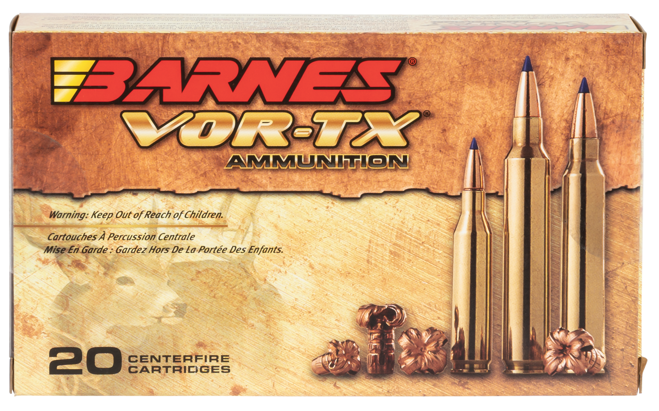 Barnes 21526 VOR-TX 7mm Rem Magnum 140GR Tipped TSX Boat Tail 20Box/10Case