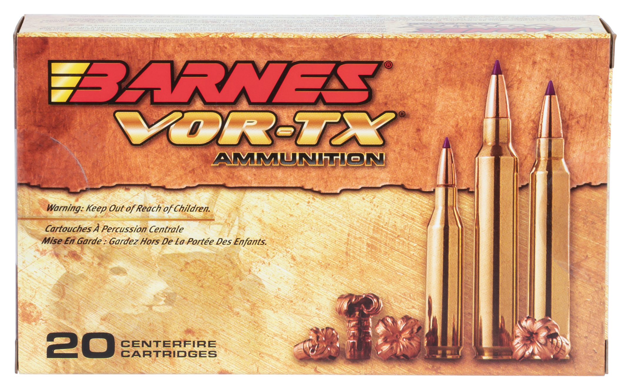 Barnes 21542 VOR-TX 338 Winchester Mag 225GR Tipped TSX Boat Tail 20Box/10Case