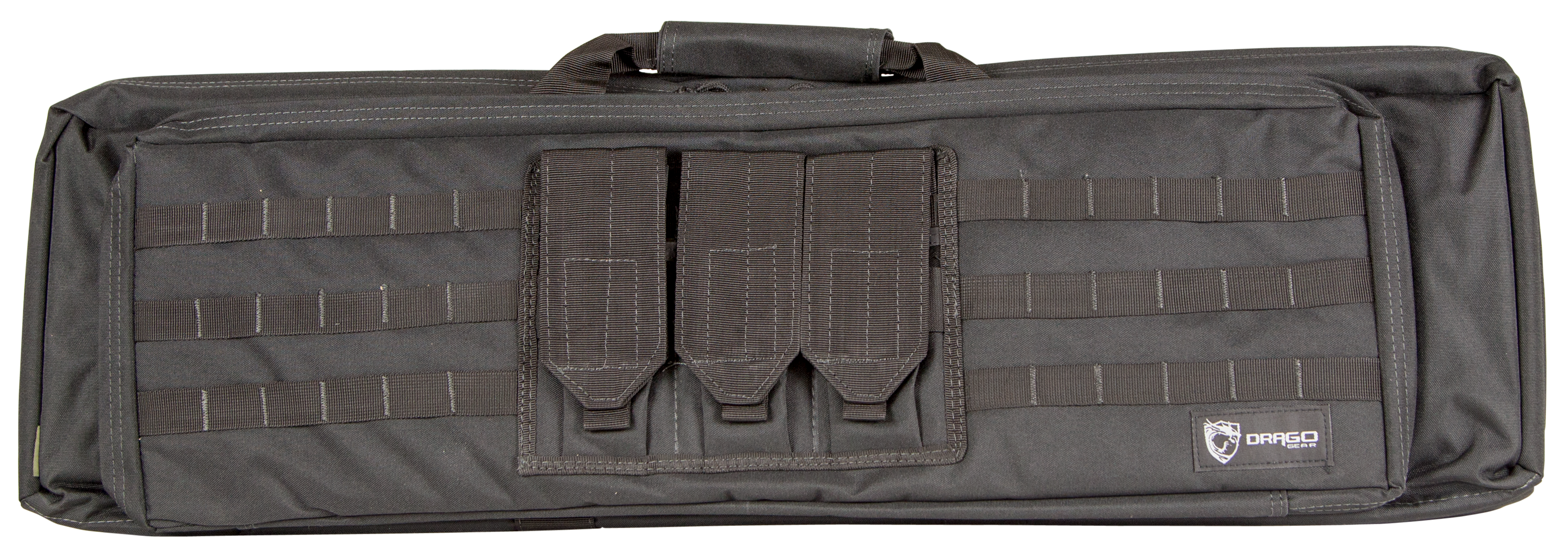 Drago Gear 12306BL XT Double Gun Case 600D Polyester Black 36.25