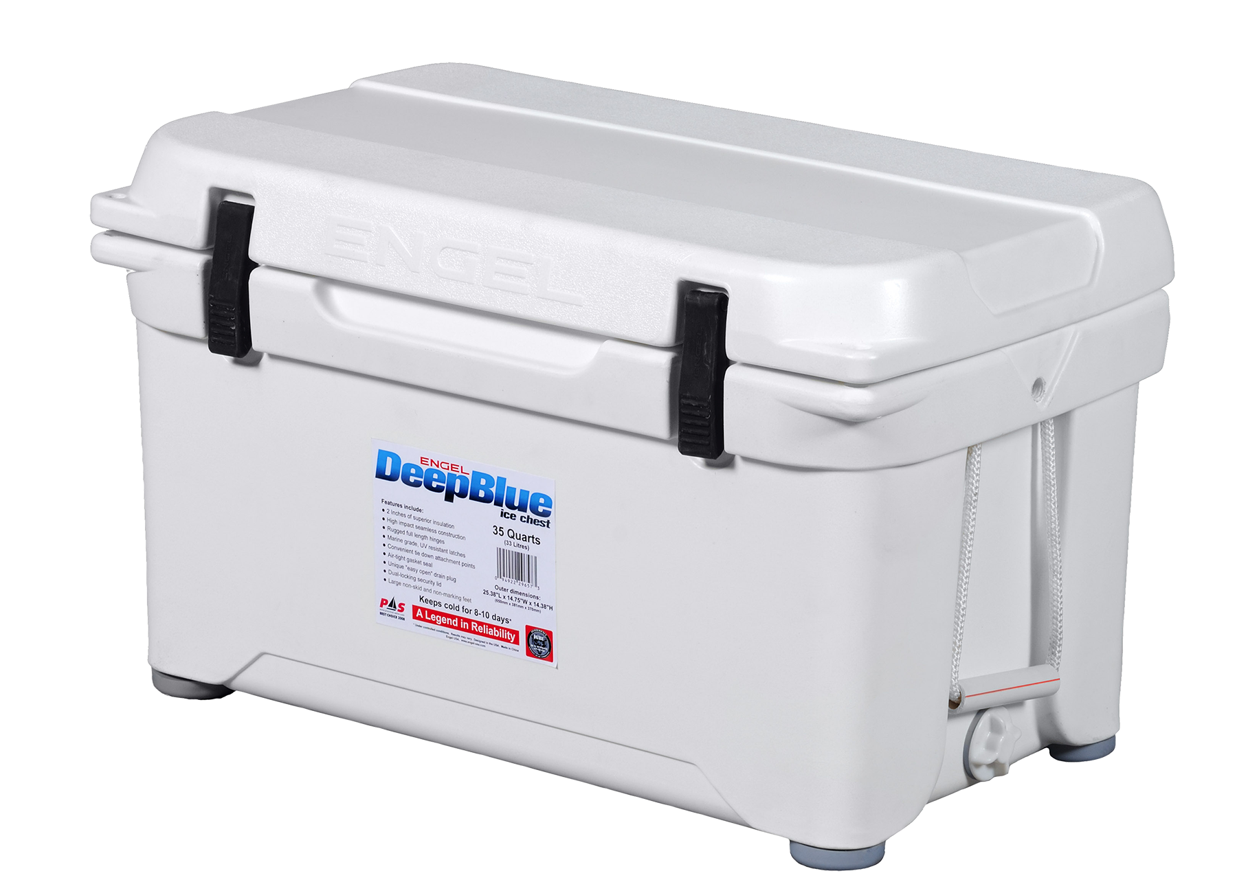 Engel ENG35 Deep Blue Performance Coolers 35 Quart White