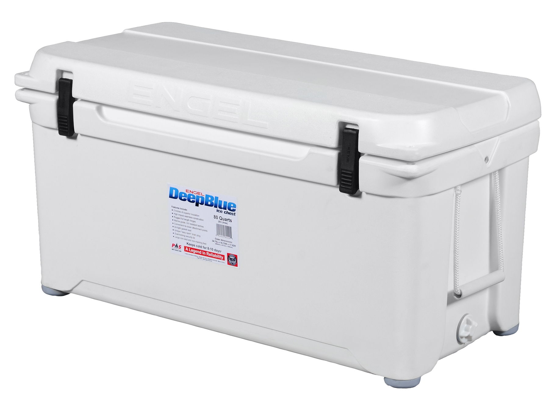 Engel ENG80 Deep Blue Performance Coolers 80 Quart White
