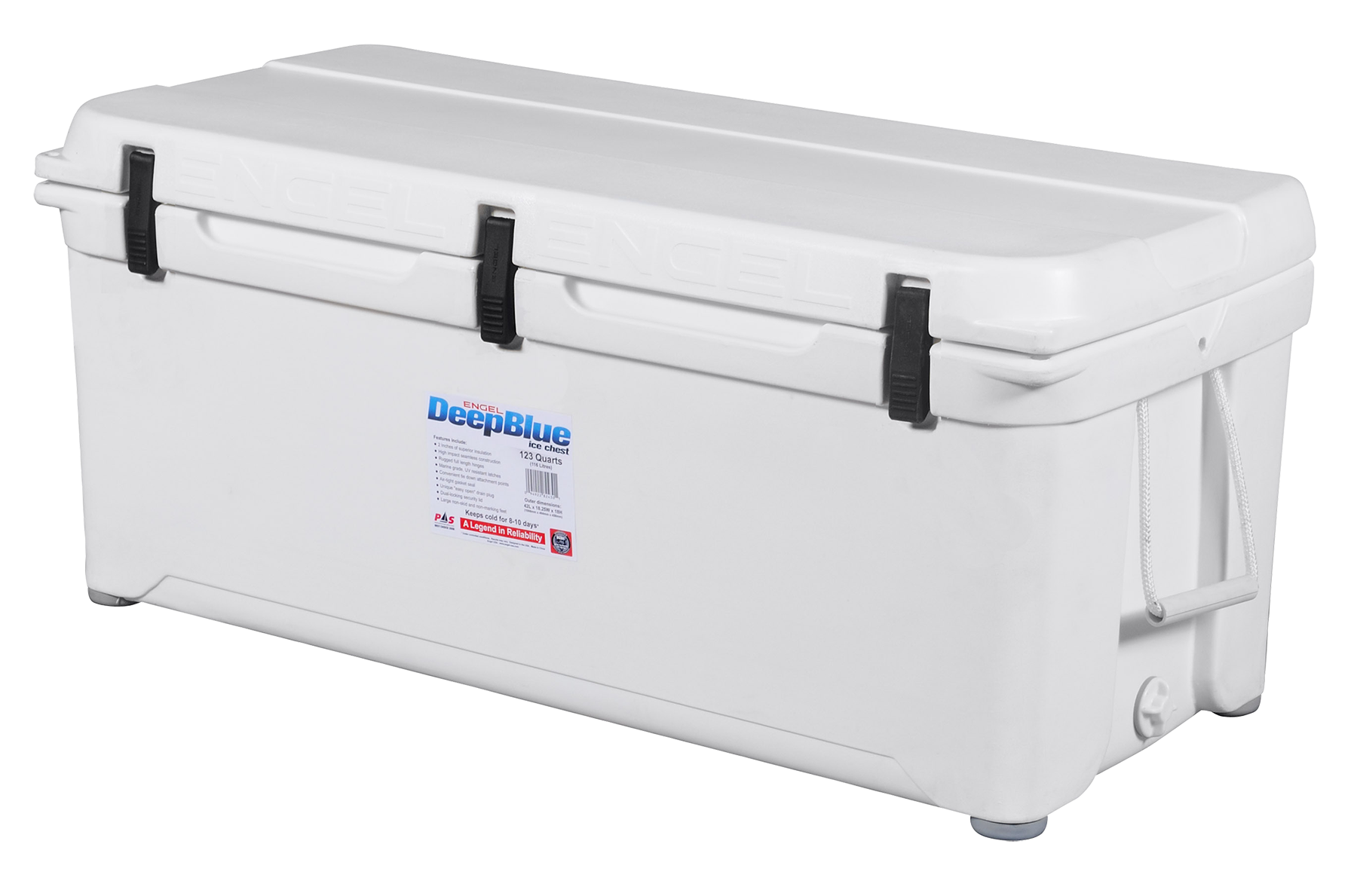 Engel ENG123 Deep Blue Performance Coolers 123 Quart White