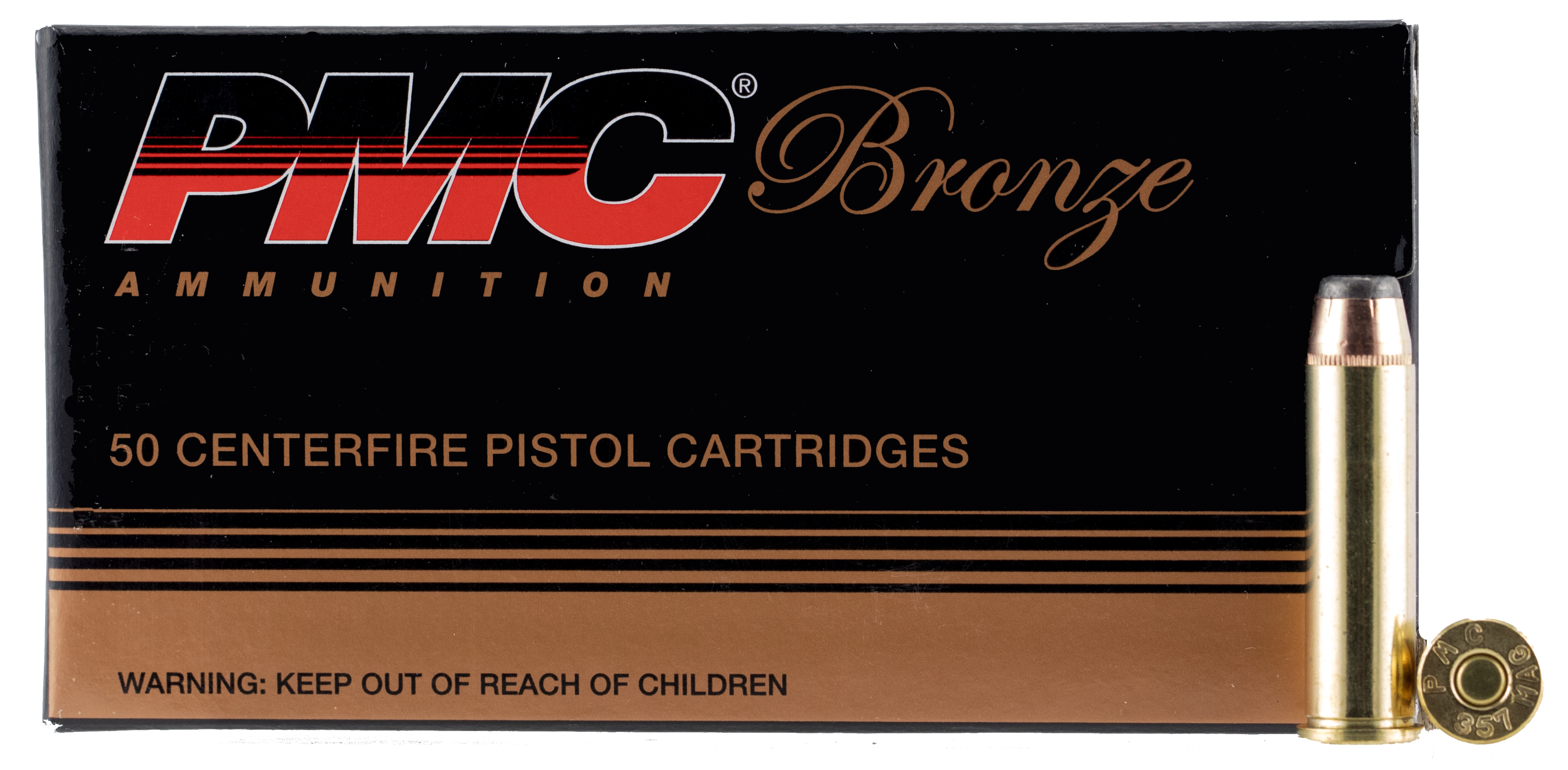 PMC 357A Bronze 357 Remington Mag Jacketed Soft Point 158 GR 50Box/20Case