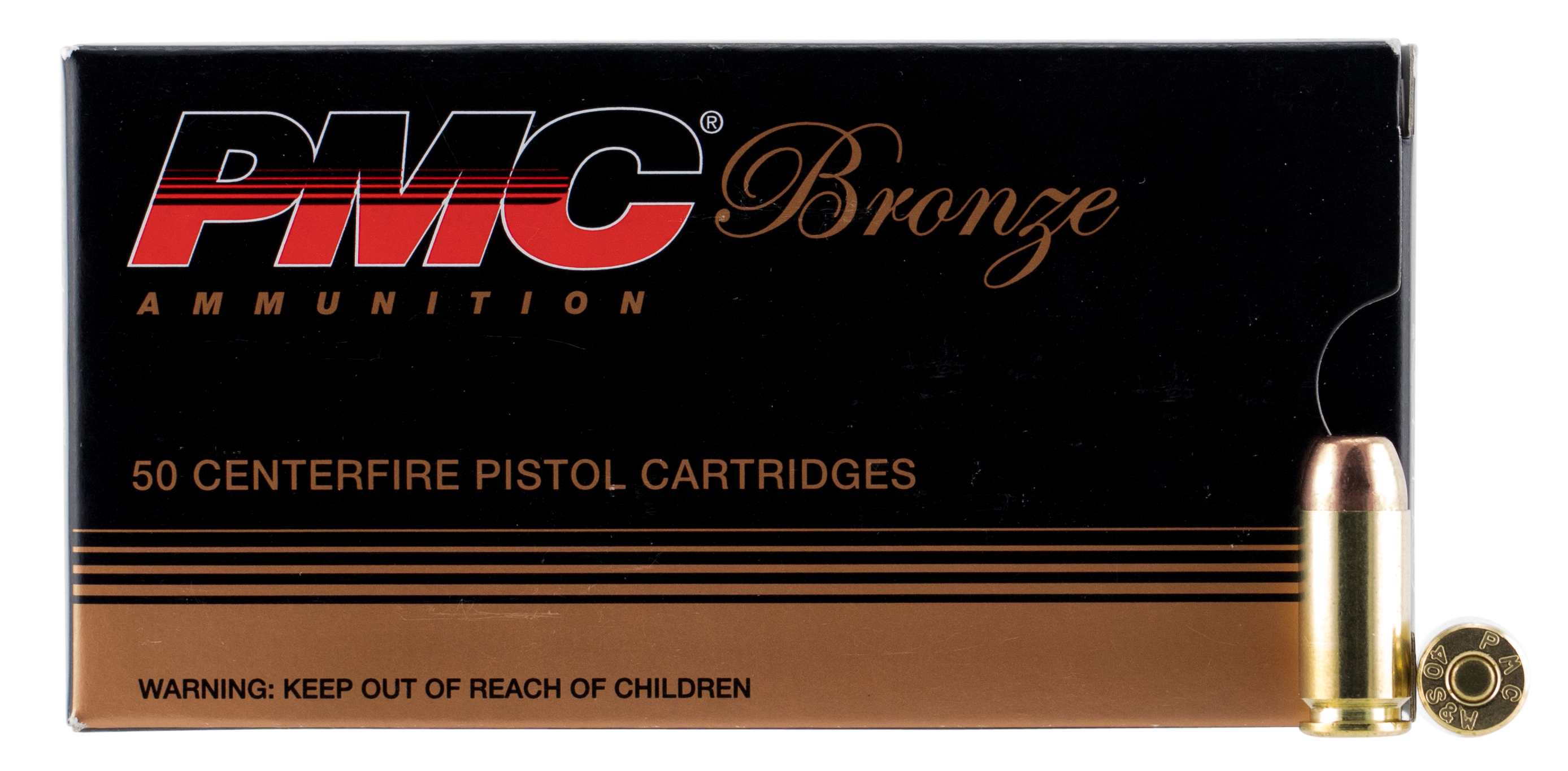 PMC 40D Bronze 40 Smith & Wesson 165 GR Full Metal Jacket 50 Bx/ 20 Cs