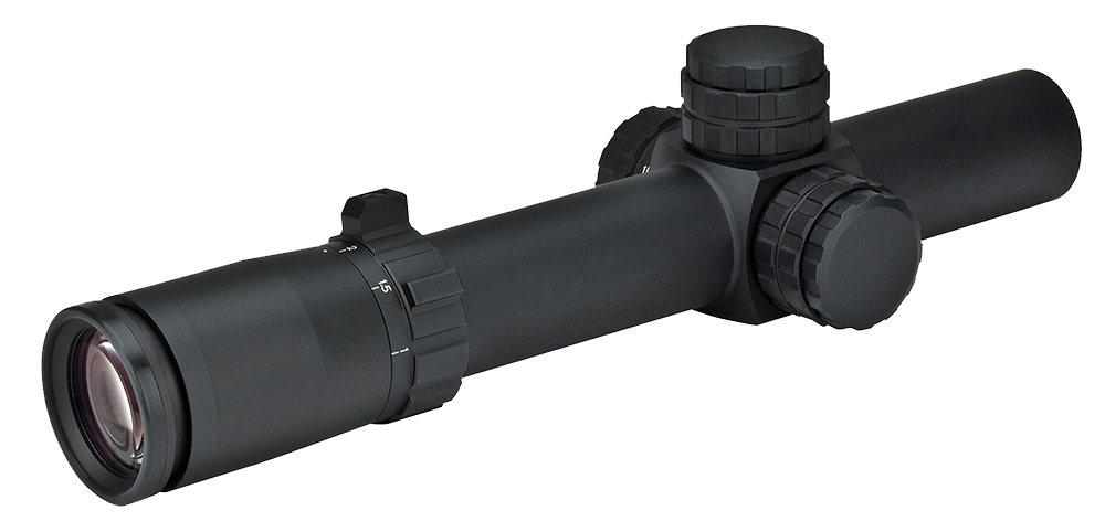 Weaver Optics 800364 Tactical 1-5x 24mm Obj 100-19.9 ft @ 100 yds FOV 30mm Tube Black Matte Circle-Dot