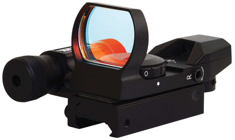 Sightmark SM13002 Dual Shot Reflex Sight/Laser 1x 33x24mm Obj Unlimited Eye Relief 5 MOA Black Matte