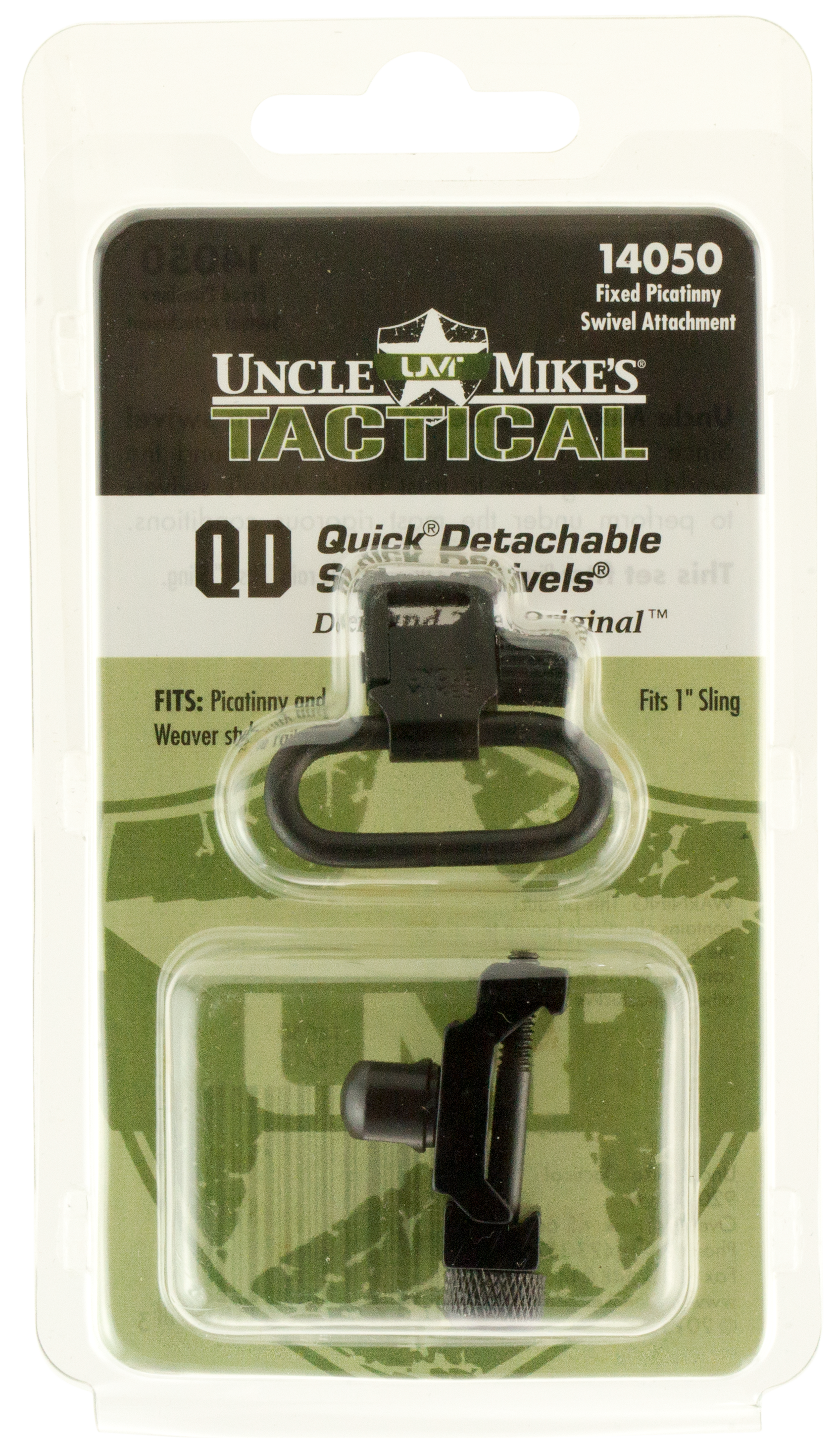 Uncle Mikes 14050 Fixed Quick Detach Sling Swivels Picatinny Attachments 1