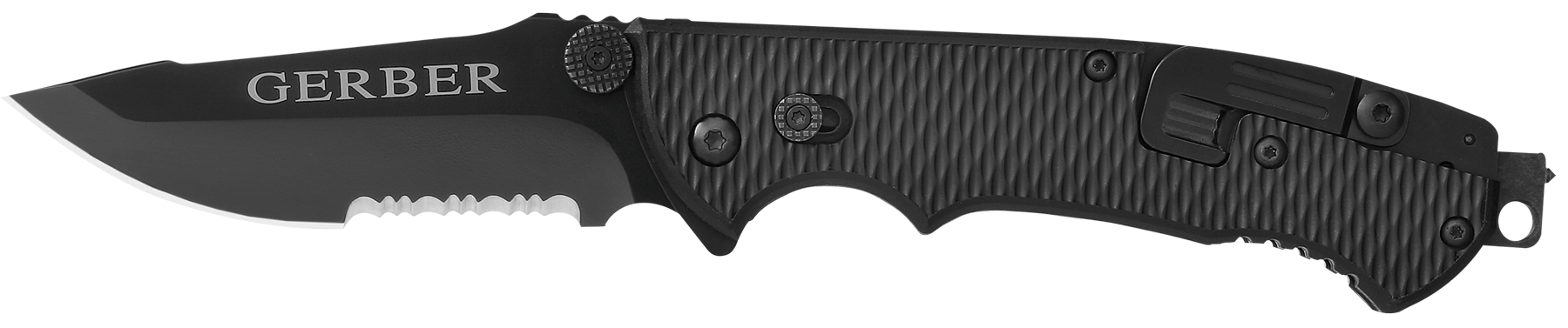 Gerber 01870 Hinderer Folder 440A Stainless Fine/Serrated Blade Black