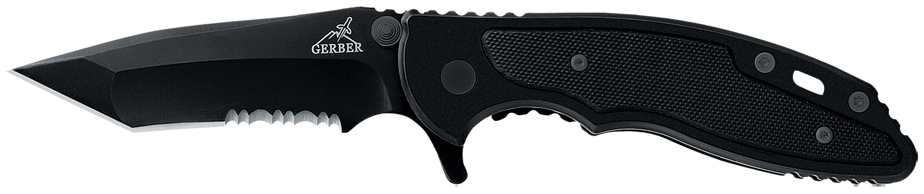 Gerber 01586 Torch Folder 440A Stainless Tanto Blade Stainless Steel w/ Machined