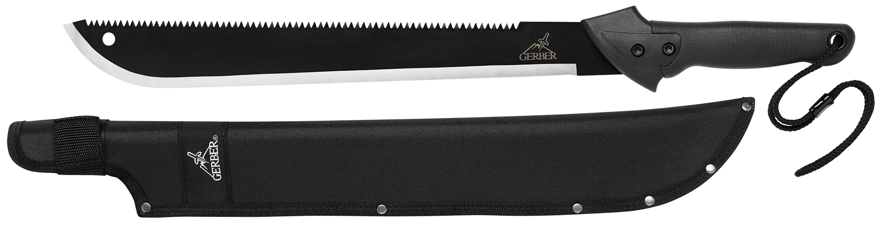 Gerber 000758 Gator Machete High Carbon Steel Clip Point/Saw Blade