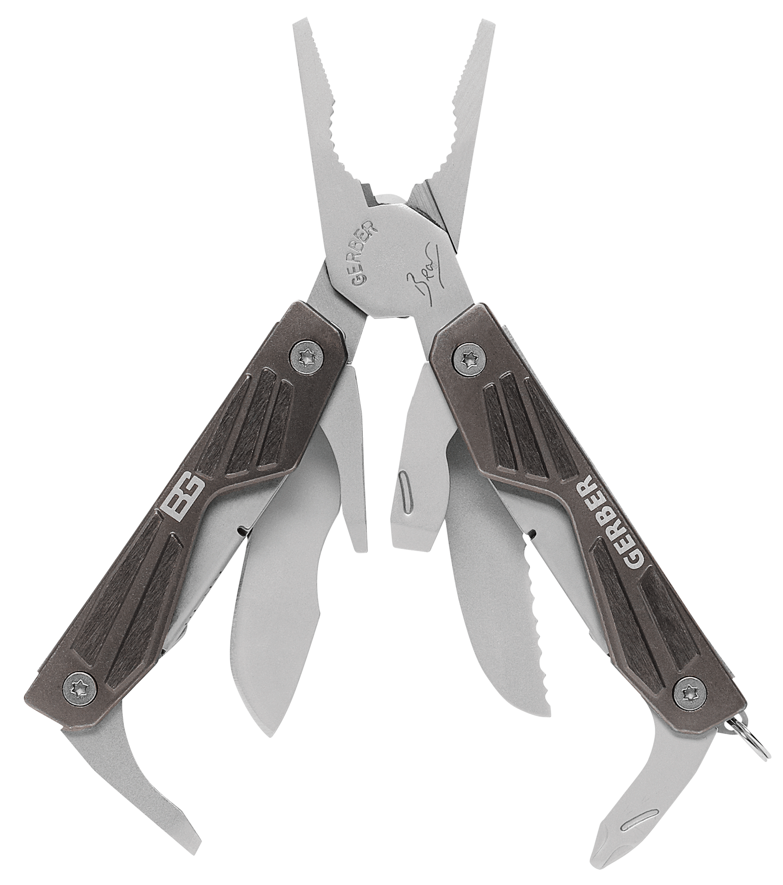 Gerber 000750 BG Multi-Tool  10 Piece Set Blade Brown Synthetic