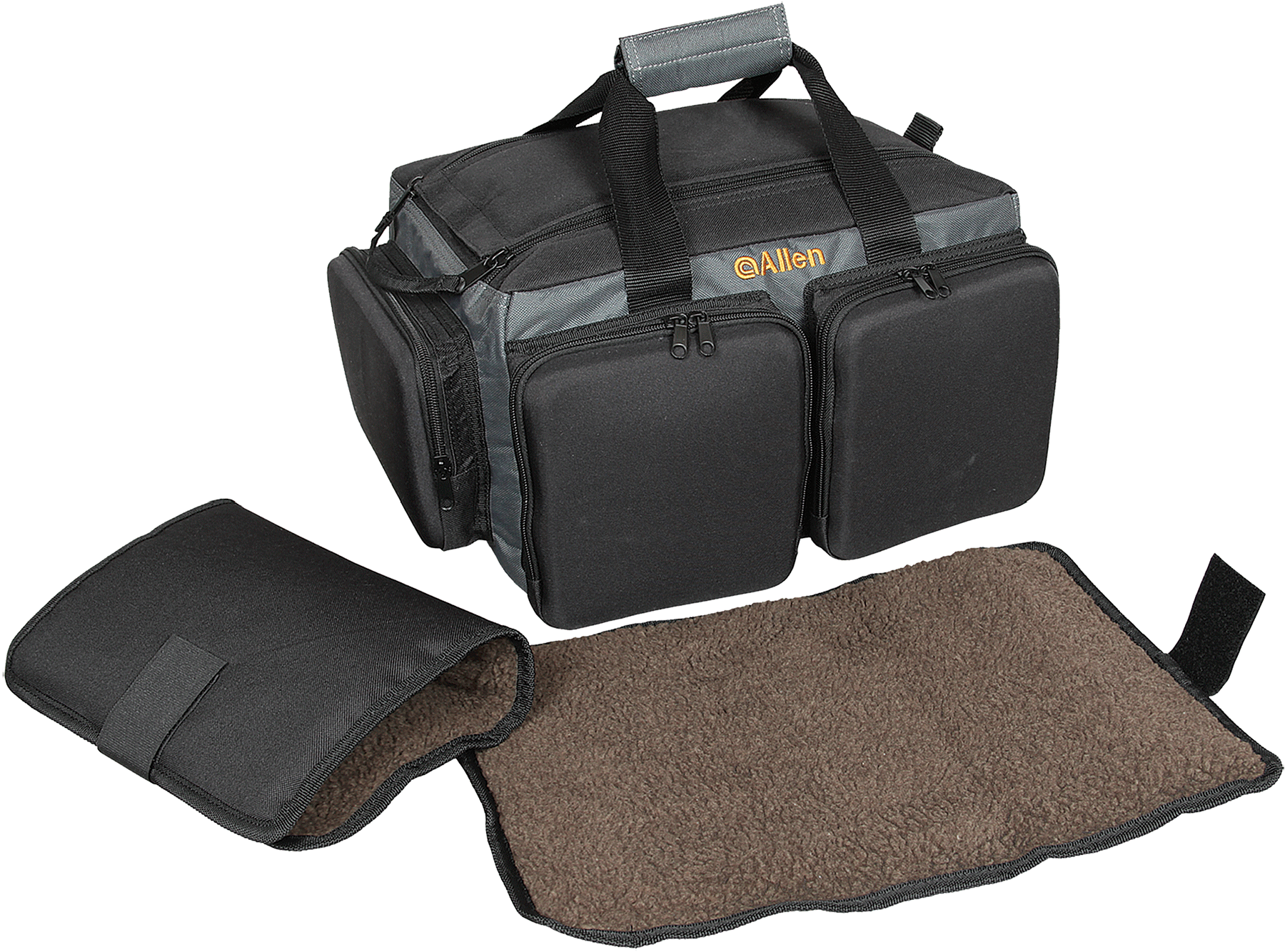 Allen 2204 RangeMaster Shooting Gun Case Pistol Bag  Large Black/Gray