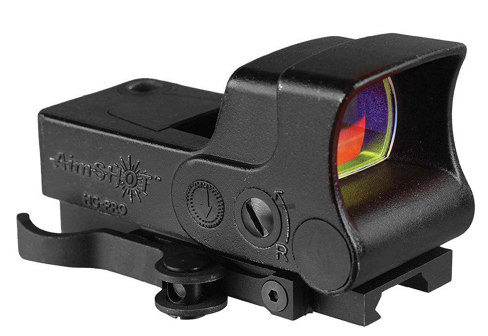 Aimshot HGPROB HG-Pro 1x 34mm Unlimited Eye Relief Red Crosshair Black Matte CR123A Lithium