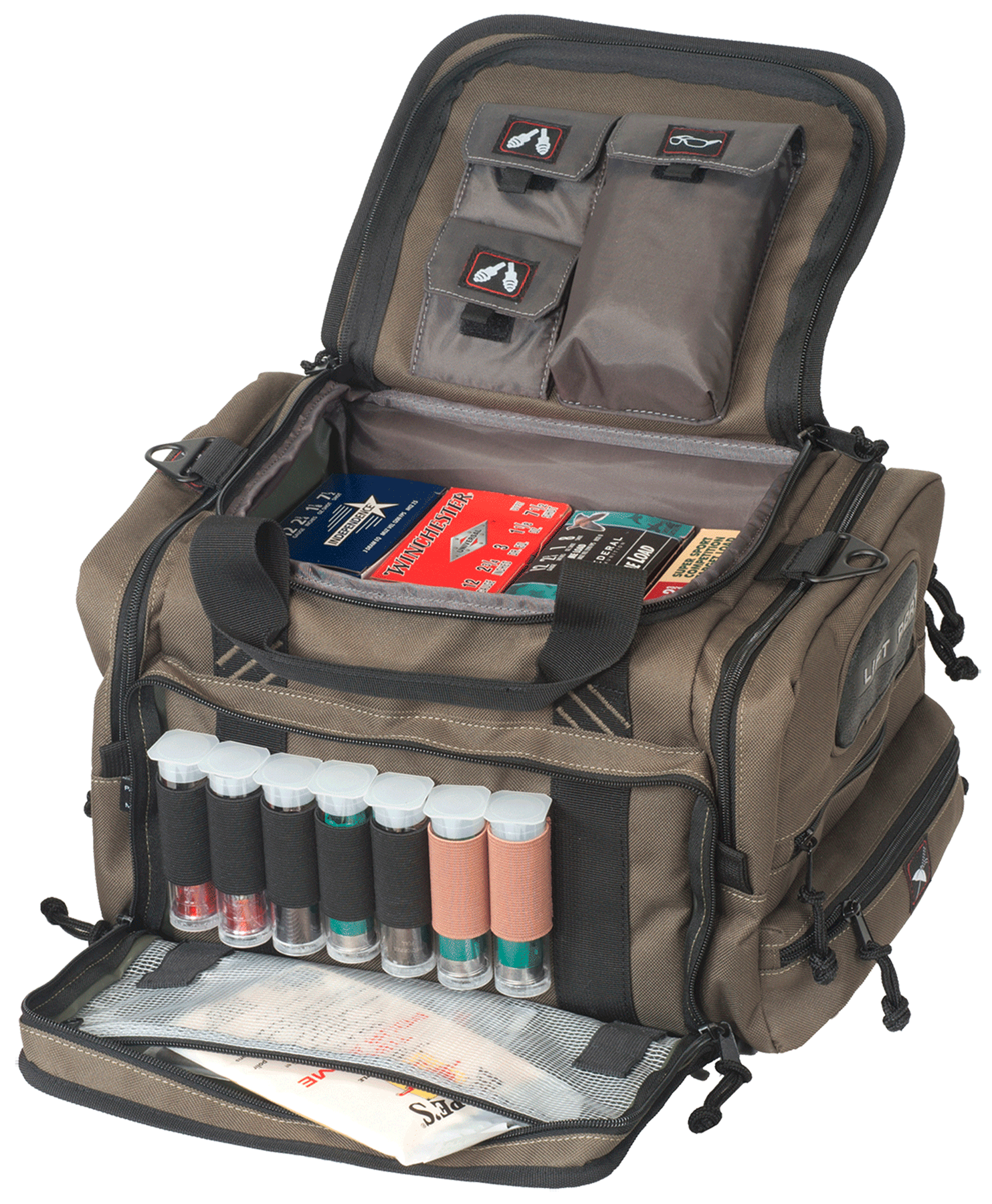G*Outdoors 1411SC Sporting Clays Range Bag w/Waterproof Cover Nylon Green