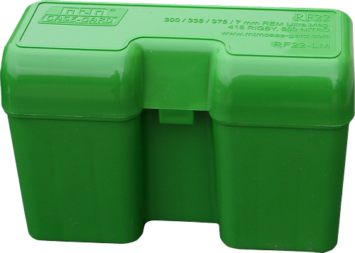 MTM  RF22LM RF-22 Rifle Ammo Box Flip-Top 22rd Ultra Mag Poly Green