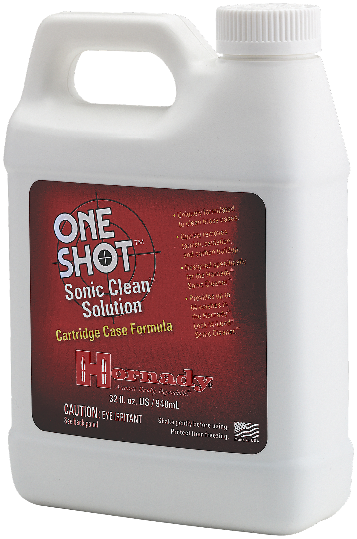 Hornady 043355 Lock-N-Load Sonic Brass Cleaning Solution 64 Washes Universal
