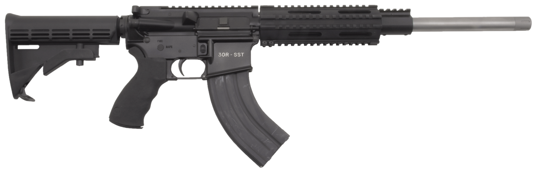 Olympic Arms K16SST300BO K16SST Carbine Semi-Automatic 300 AAC Blackout/Whisper (7.62x35mm) 16