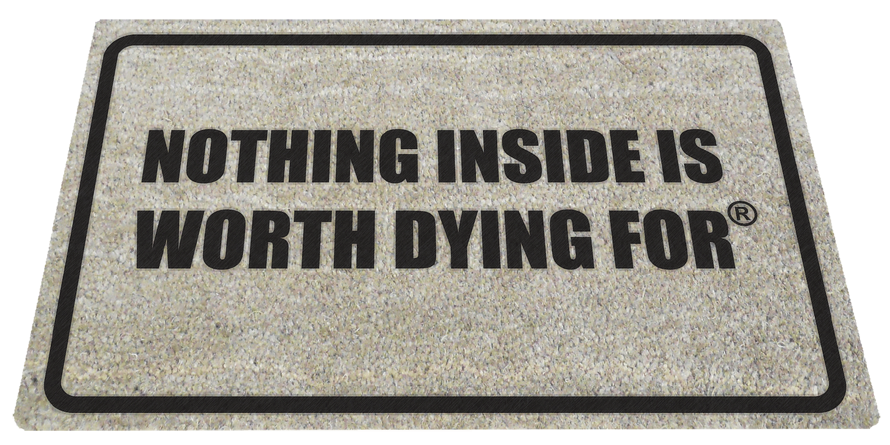 Ready to Defend NDMR1 Un-Welcome Mat Nothing Inside Is Worth Dying For 30x18