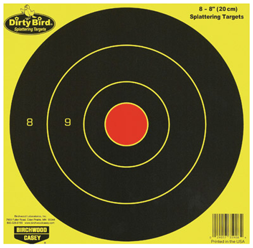 Birchwood Casey 35908 Dirty Bird Bull''''s-Eye Targets 8 Pac
