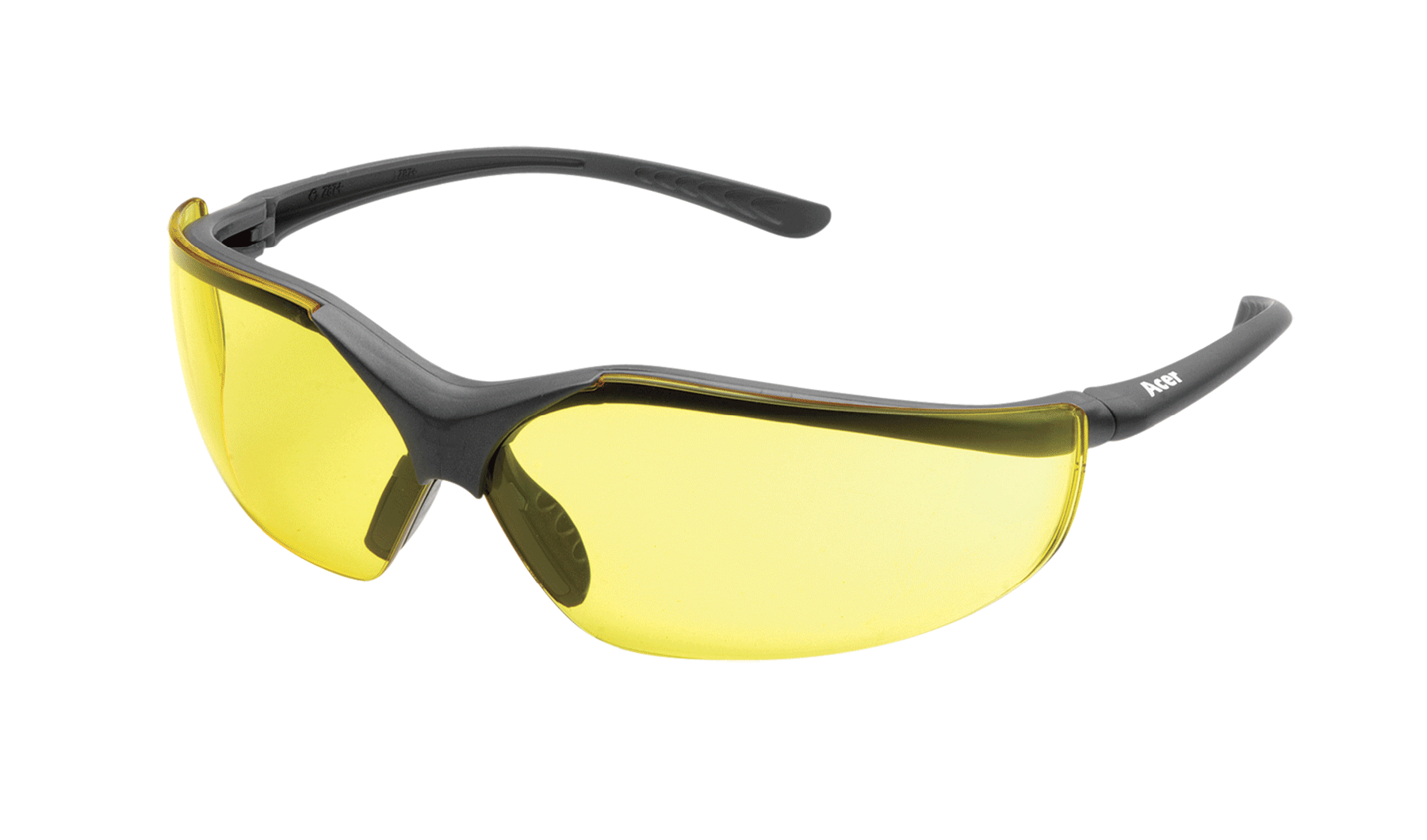 Elvex Corp RSG12A Acer Safety Glasses Amber Lens Clamshell Package