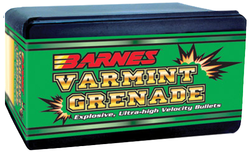Barnes Bullets 30170 Varmint Grenade 22 Caliber/22 Hornet .224 30 GR Flat Base Hollow Point 100 Box