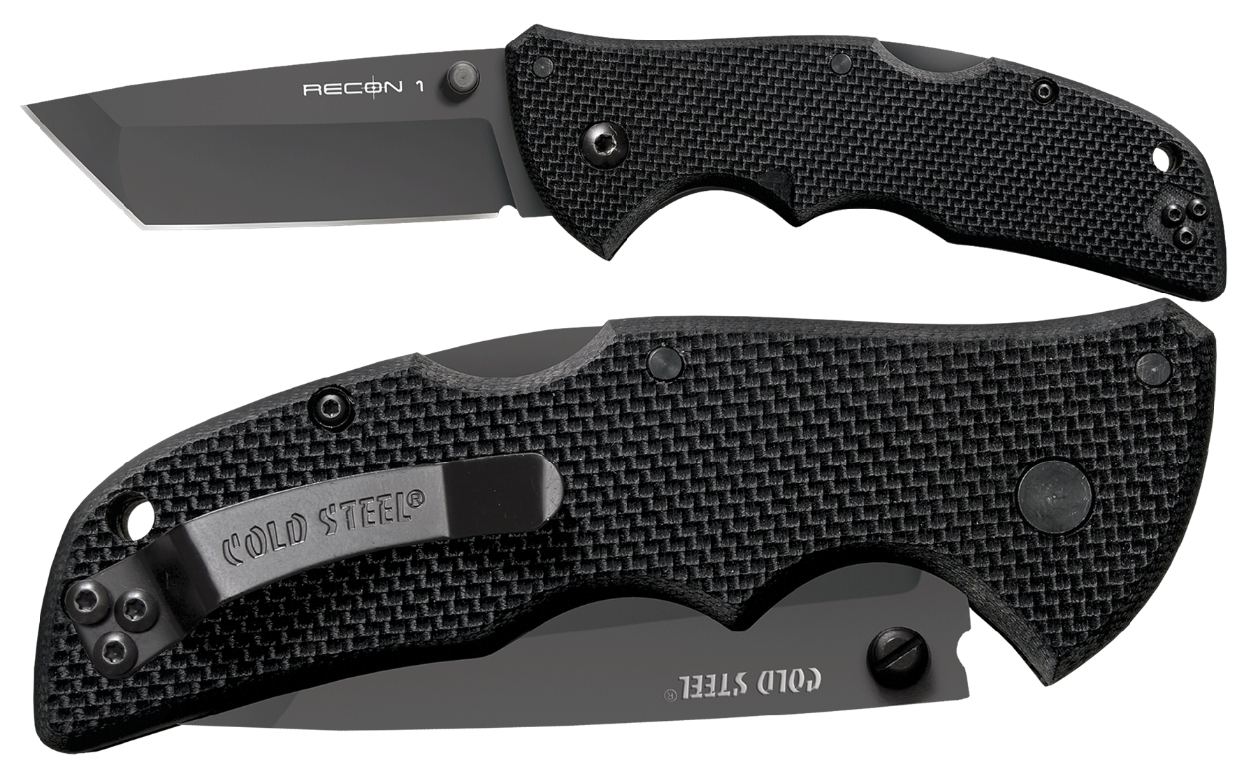 Cold Steel 27TMT Recon Folder Japanese AUS 8A Stainless w/Black Tuff-Ex Tanto Bl