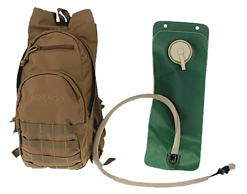 Drago Gear 11301TN Hydration Pack 600 Denier Polyester Tan