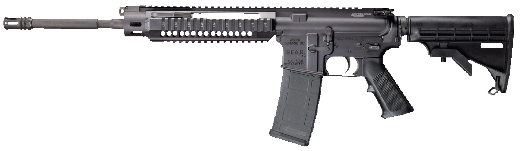 Adcor Defense 2013140 B.E.A.R. AR-15 GI With Forward Chrg Hndl Optic Ready 223/5
