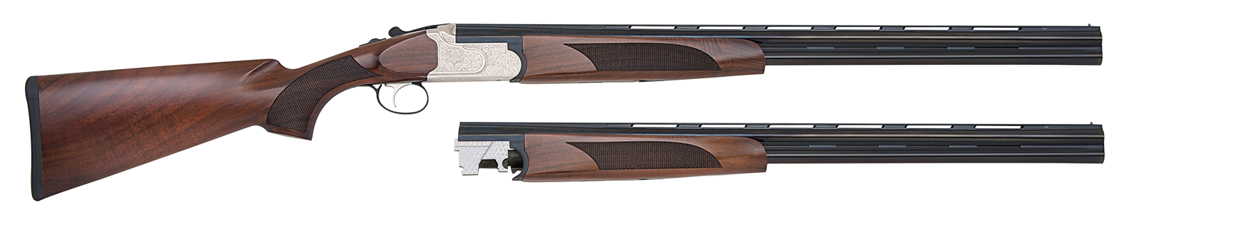 Mossberg 75441 Silver Reserve II Field Over/Under Over/Under N/A 20/28 Gauge Blued Barrel/Silver Receiver
