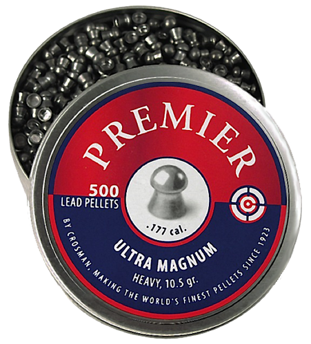 Crosman LUM177 Premier Pellets Heavy Pellets .177 500 Count Silver