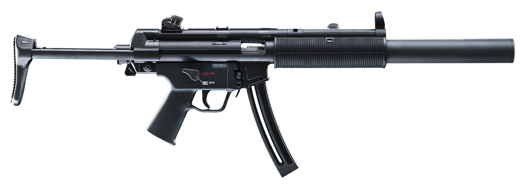 H&K Rimfire 578031110 MP5 A5 SD Semi-Auto 22 LR 16.2