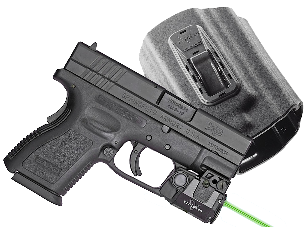 Viridian C5LPACKC3 C5L C3 with Holster Green Laser Springfield XD/XDM Trigger Guard