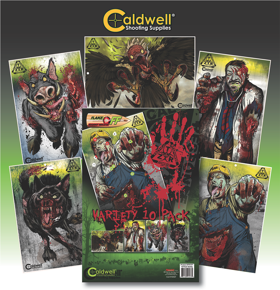 Caldwell 791577 Flake Off Targets Zombie Tactical Response 10 Assorted