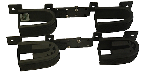 Rugged Gear 10065 Screw Mount Double Hook Black Steel