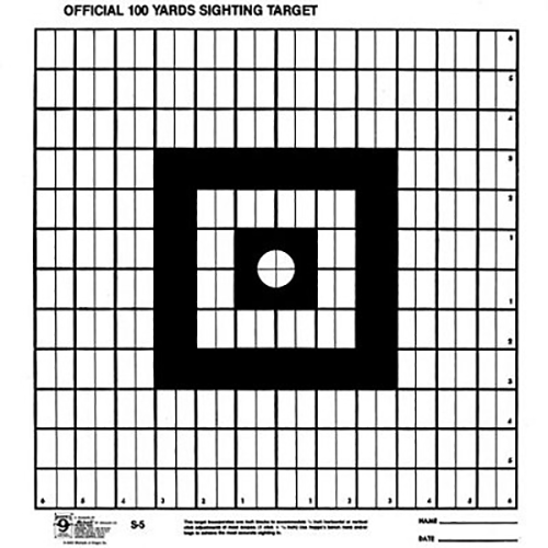 Hoppes S-5 100 Yard Sighting-In Targets 20 Pack
